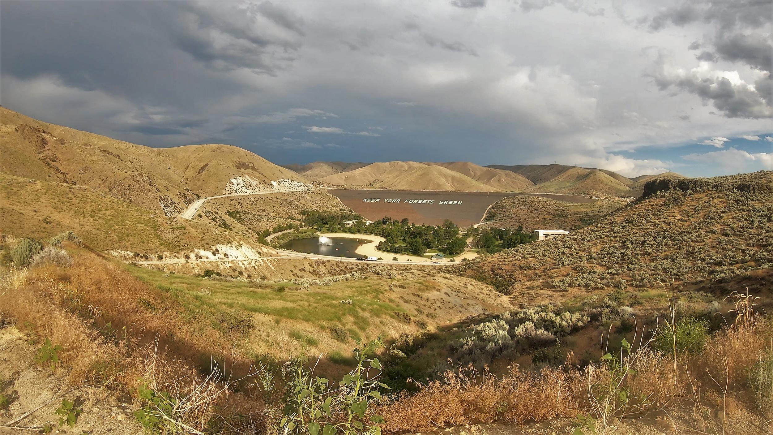 Lucky Peak Dam near Boise Idaho
