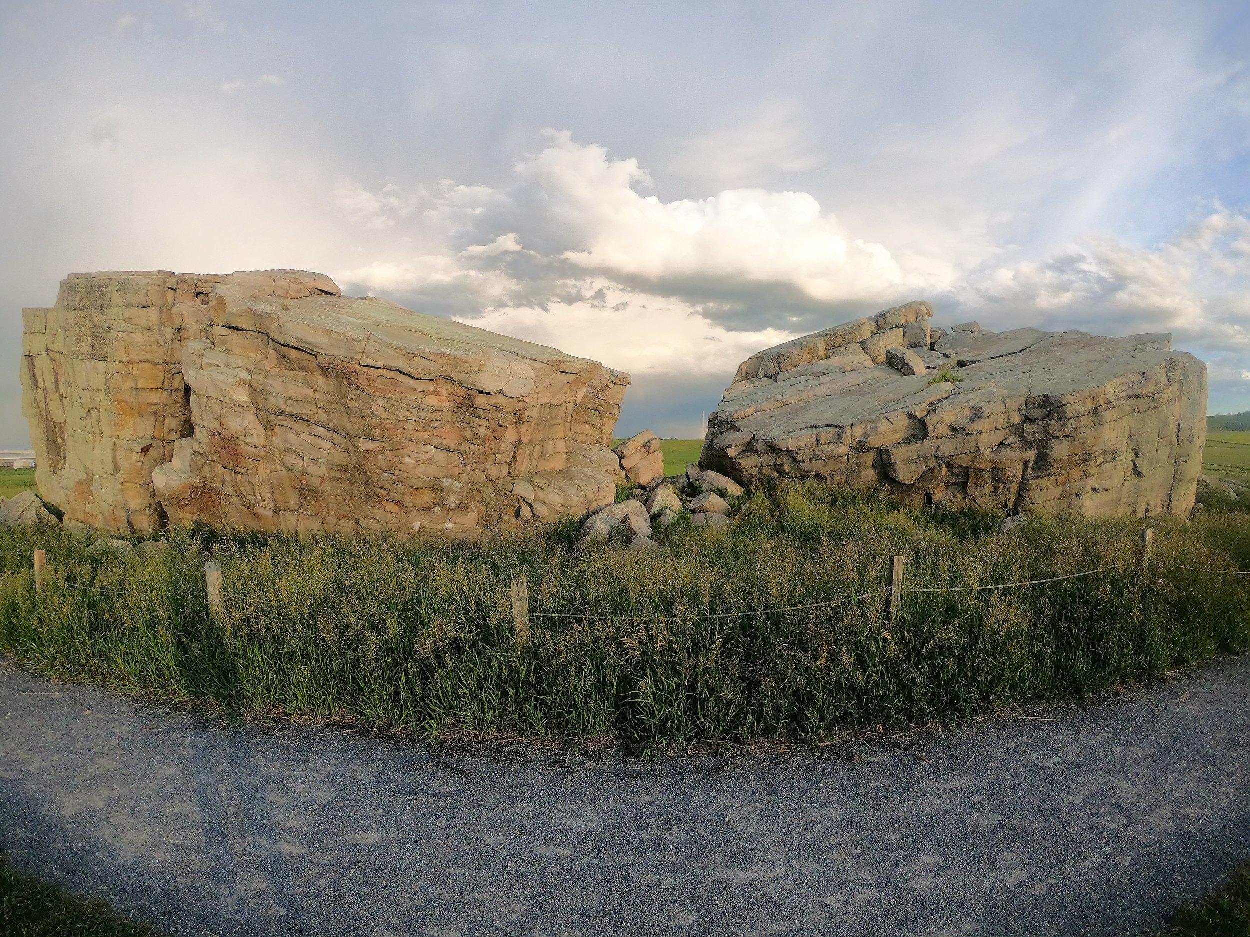 Big Rock (Glacier Erratic) in Calgary, Alberta, Canada