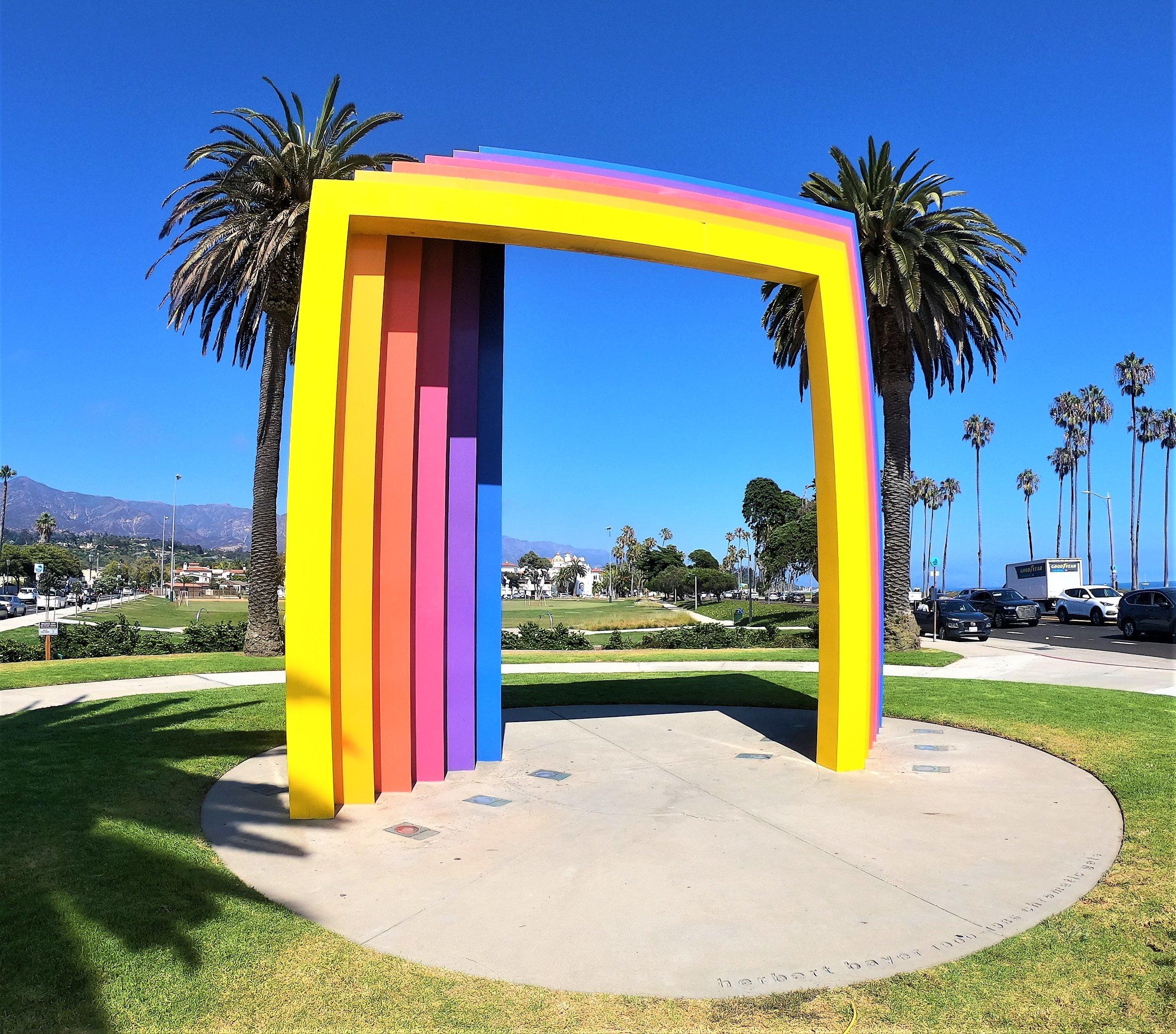 Santa Barbara Chromatic Gate by Herbert Bayer