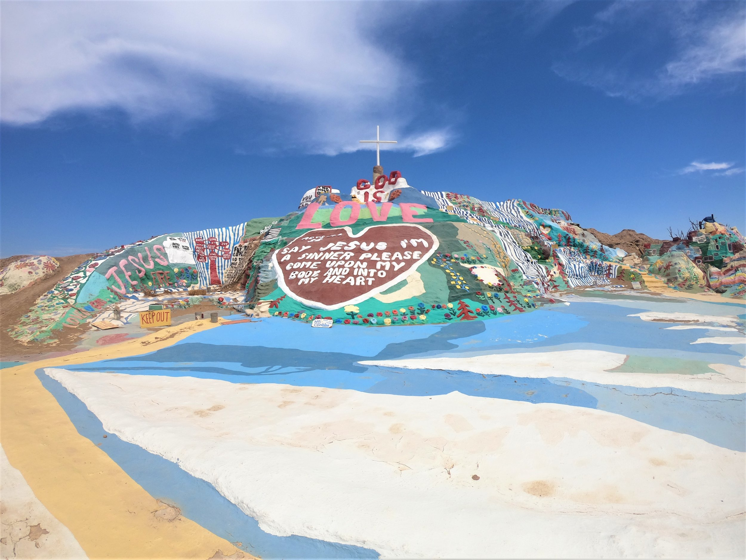 Salvation Mountain in Slab City, California