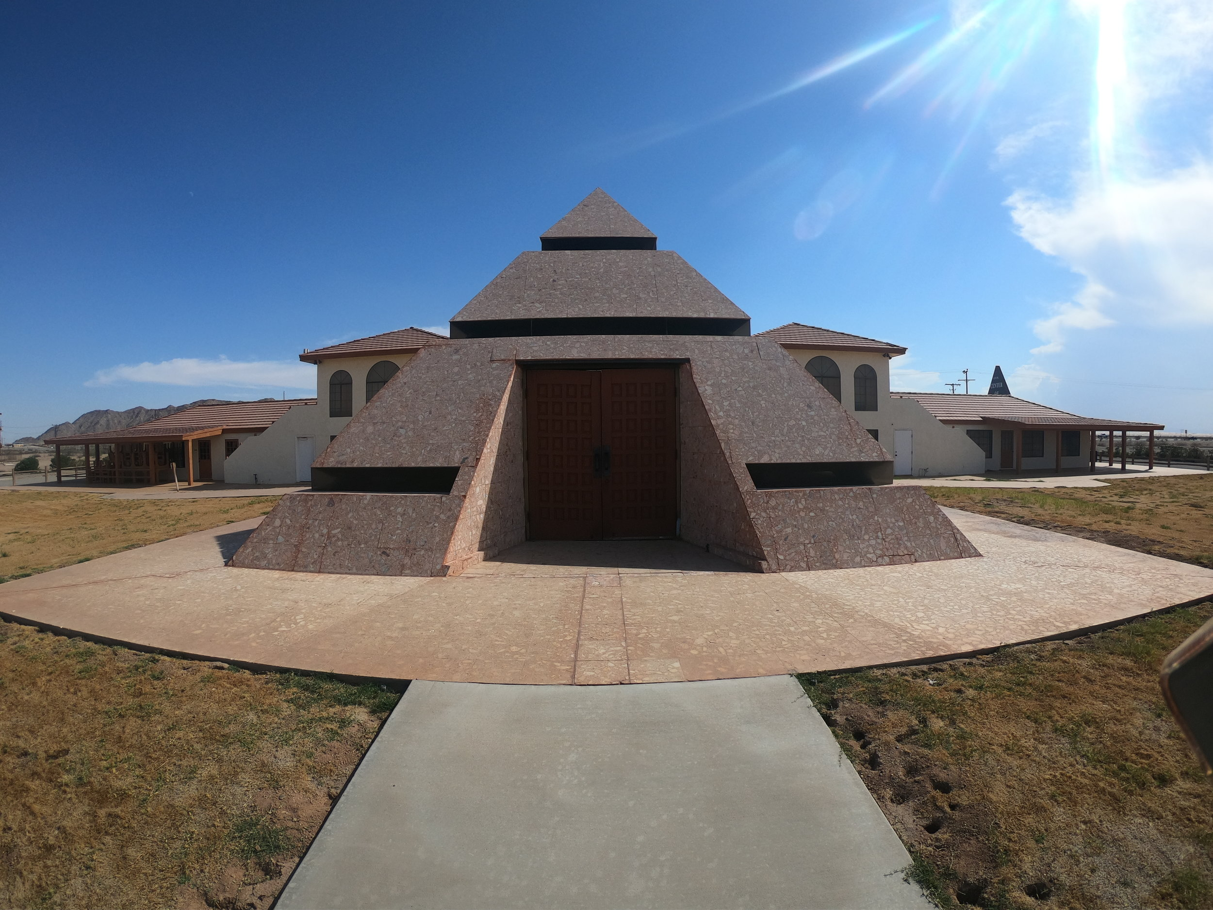 """Center of the World"" Pyramid in Felicity, California"