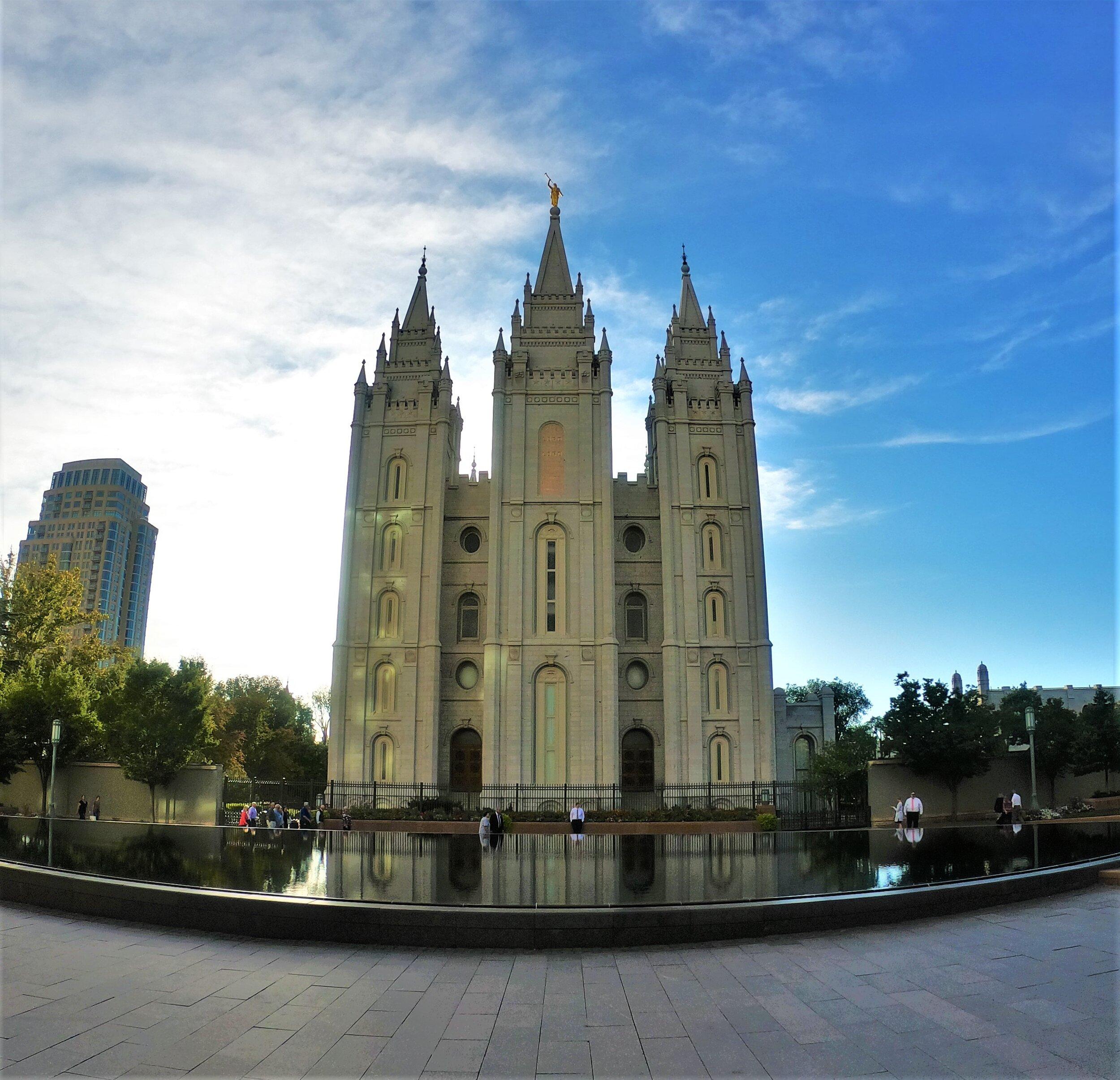 Mormom Temple in Salt Lake City, Utah