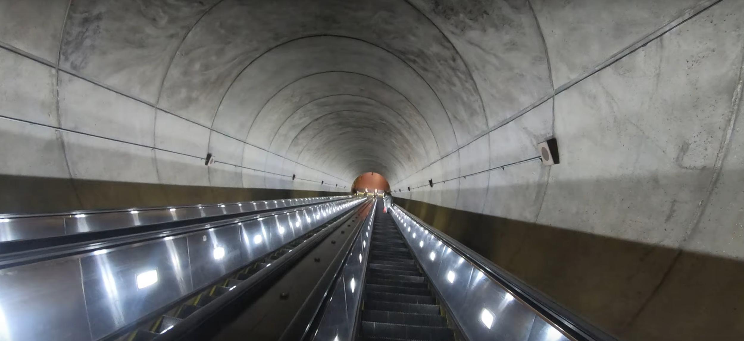 Wheaton Station- longest escalator in Western Hemisphere