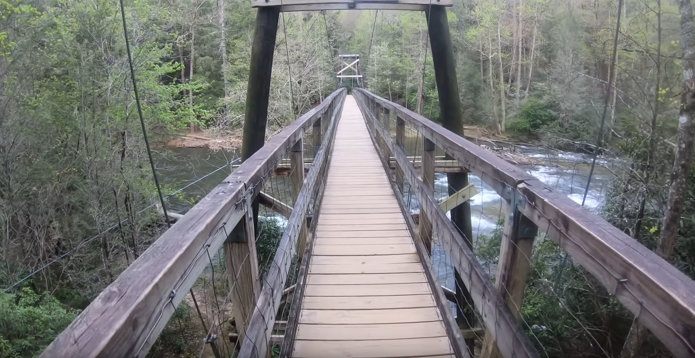 Toccoa Swinging Bridge in Blue Ridge, Georgia