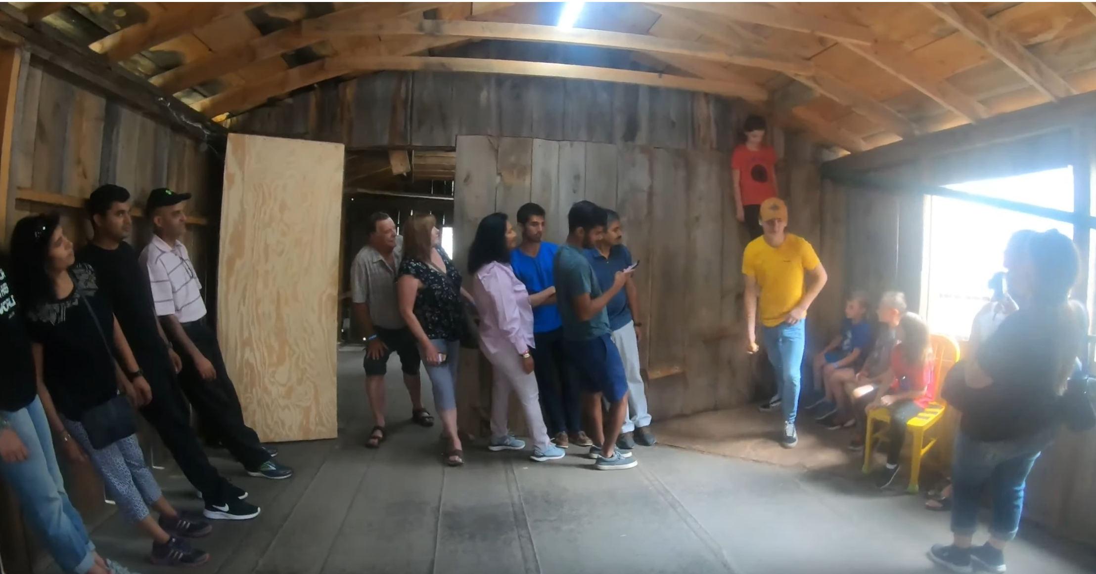 Distorted cabins in South Dakota- Cosmo's Mystery Spot