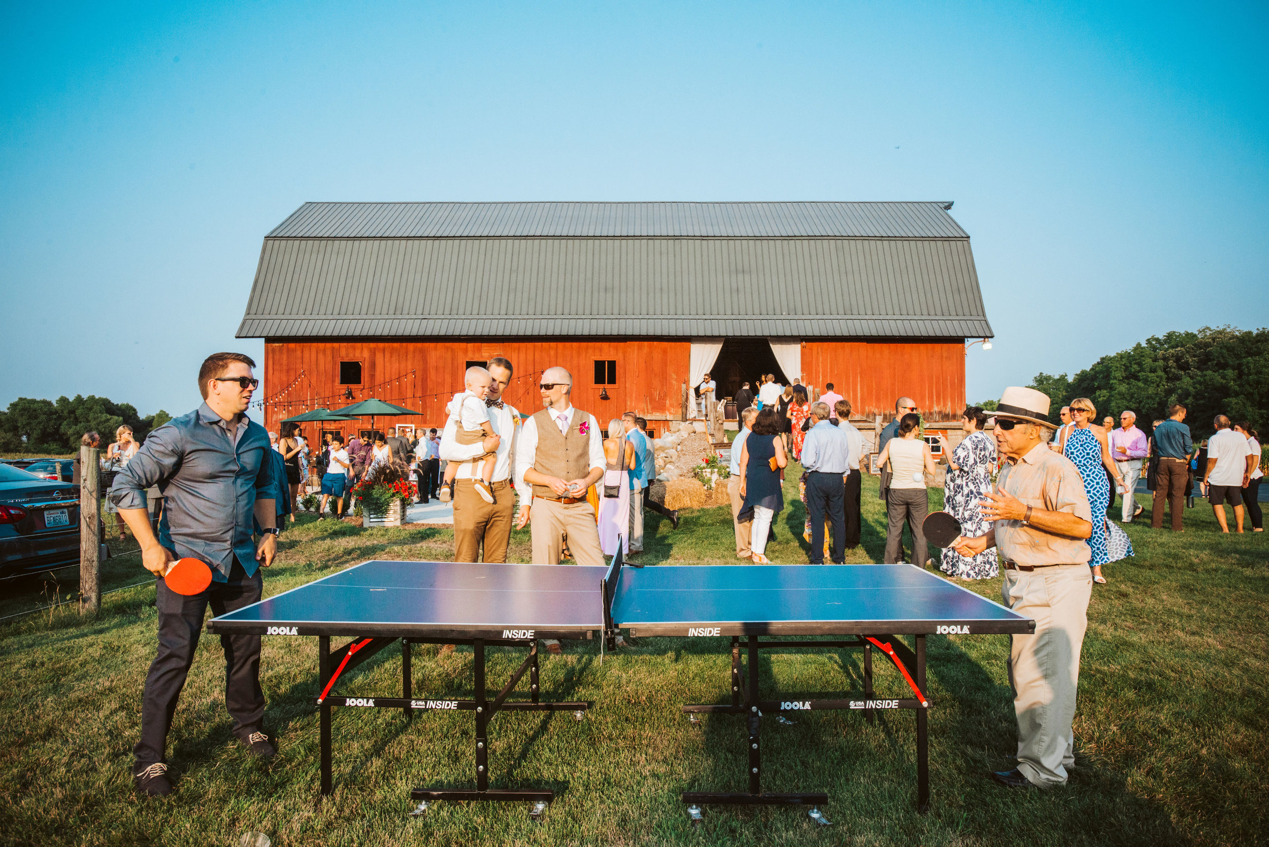 Lawn Games at Barn Wedding