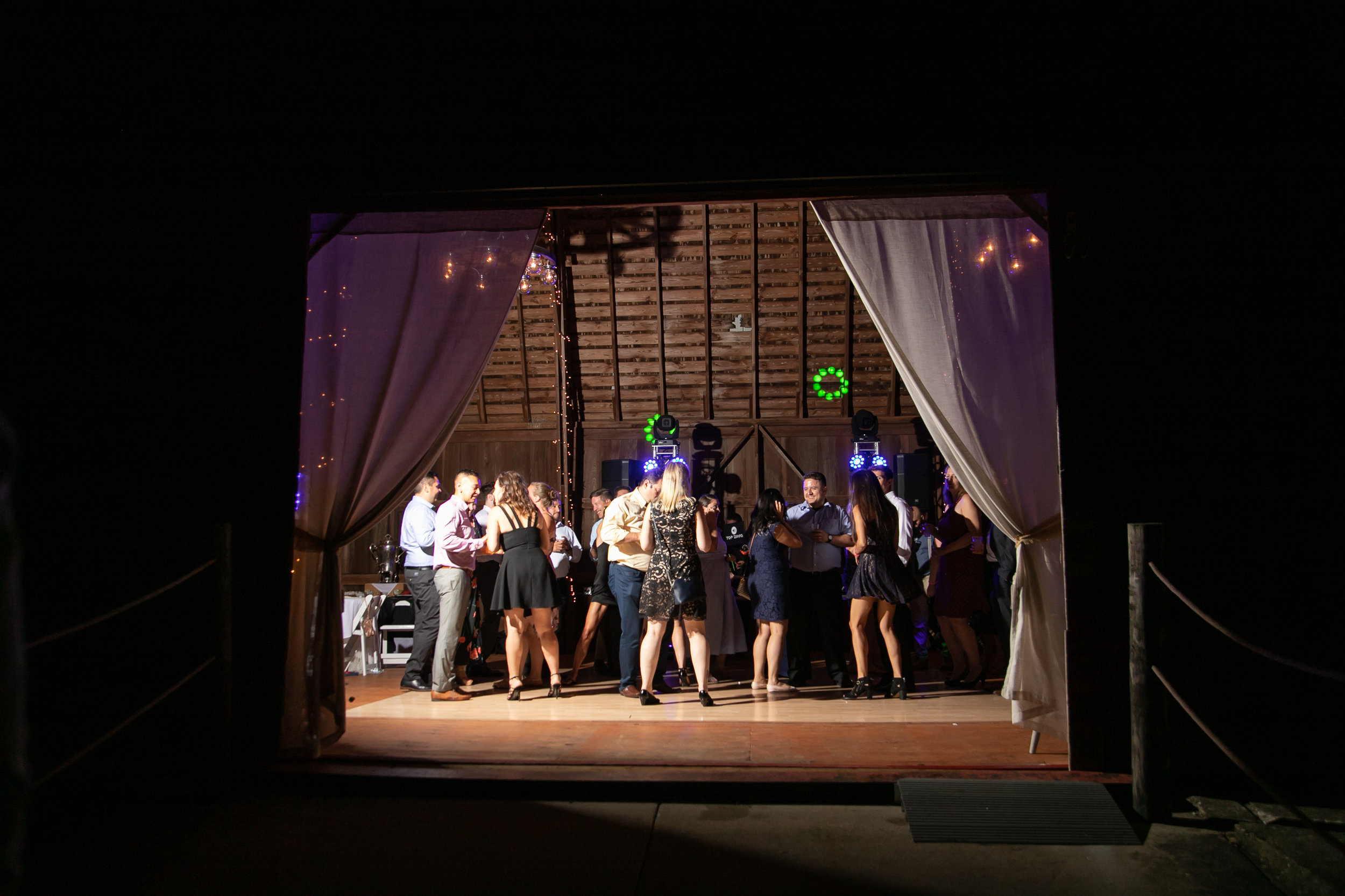 Dancing at Barn Wedding Venue