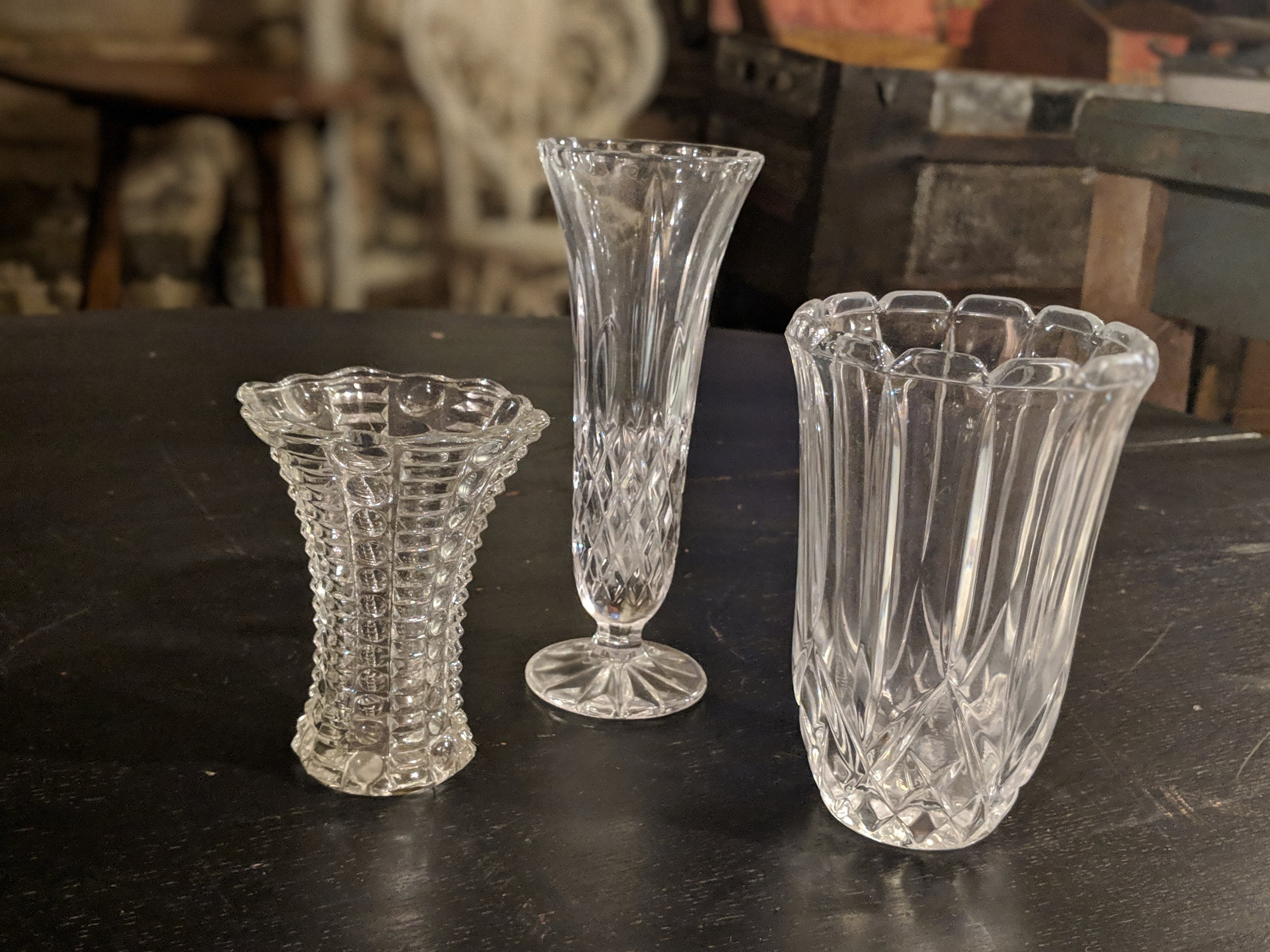 glass vases barn wedding decor