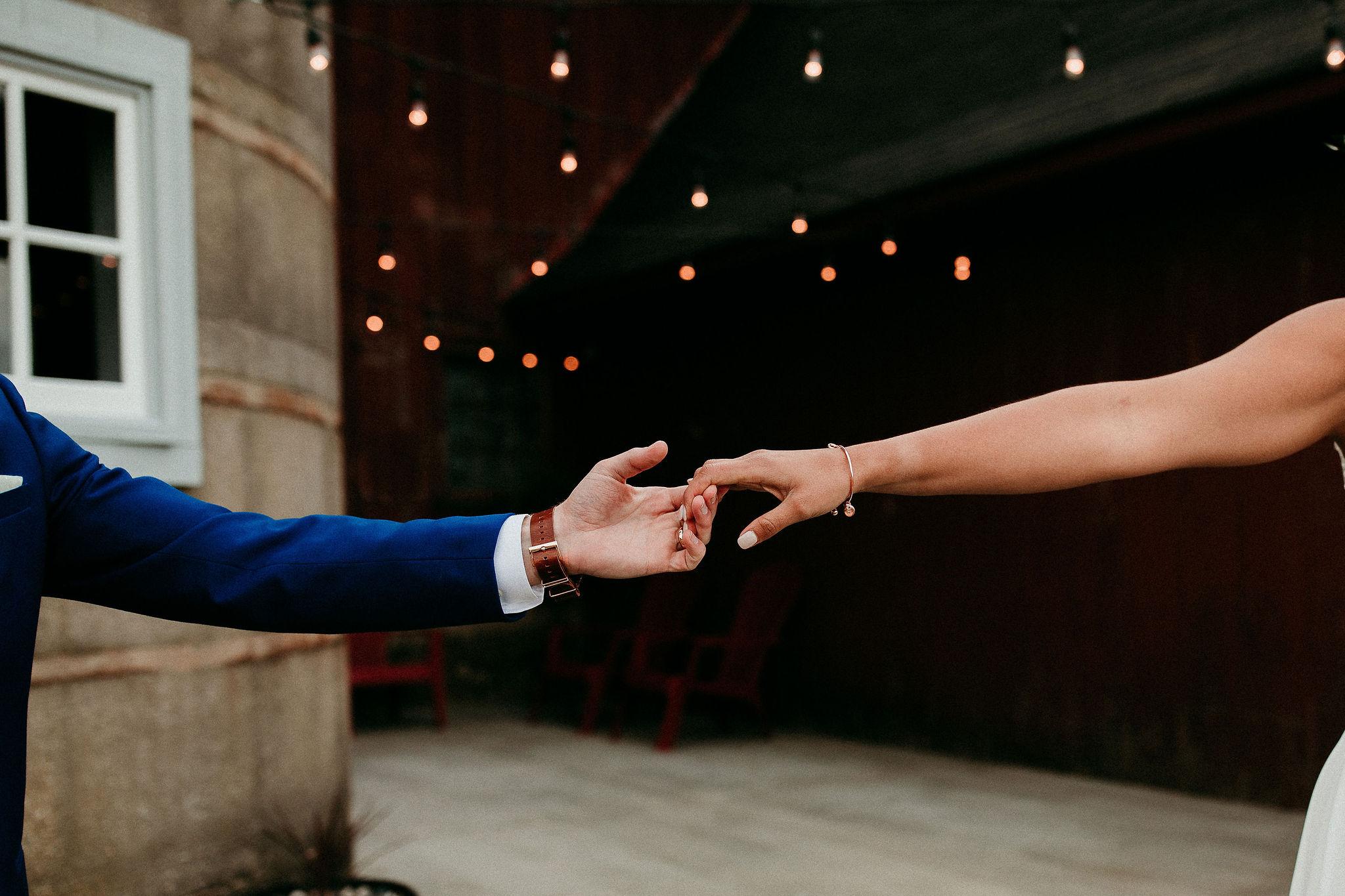 Barn Wedding Intimate Moment Between Bride and Groom.jpg