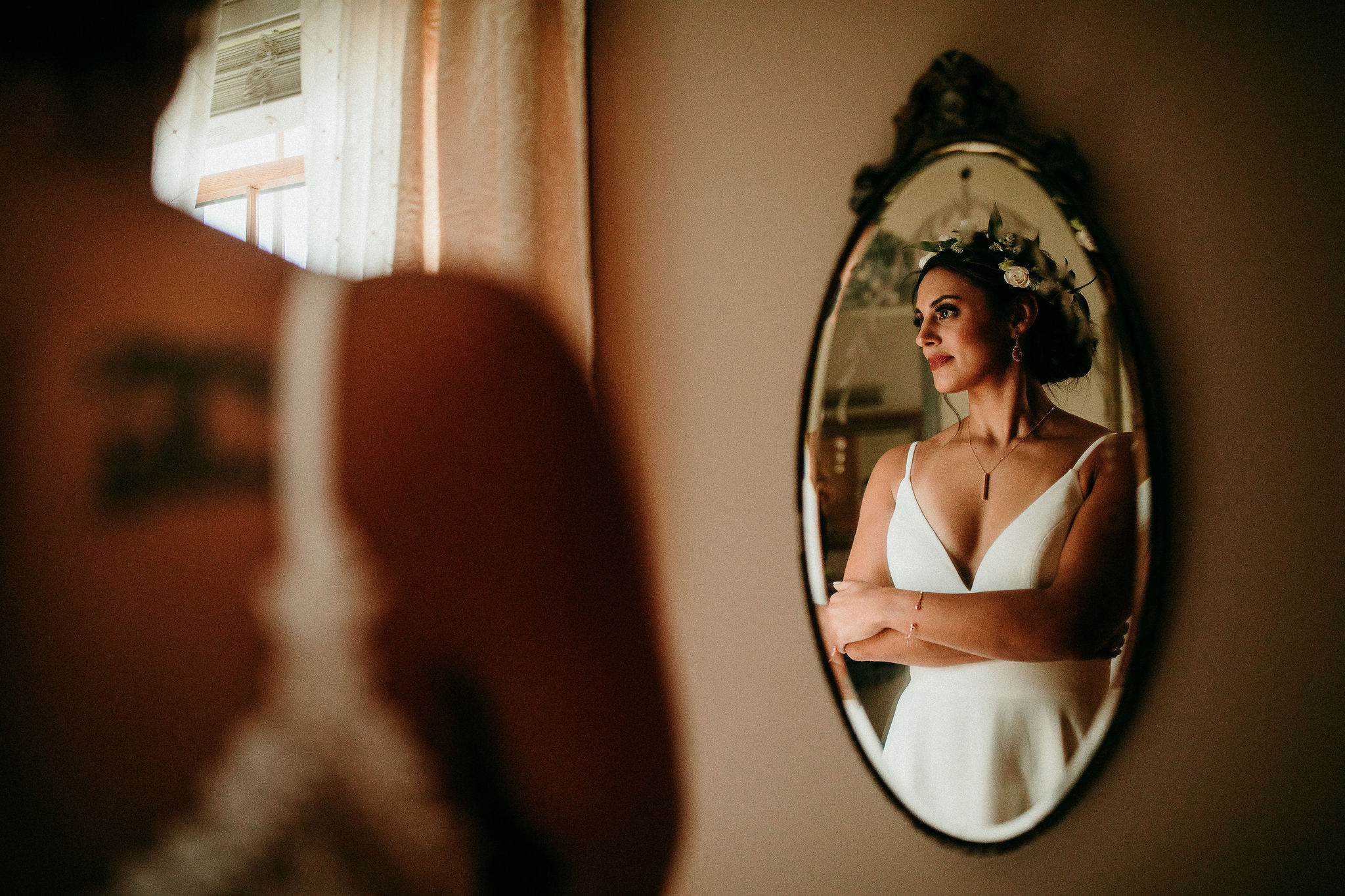 Beautiful Bride Contemplates Happily Ever After