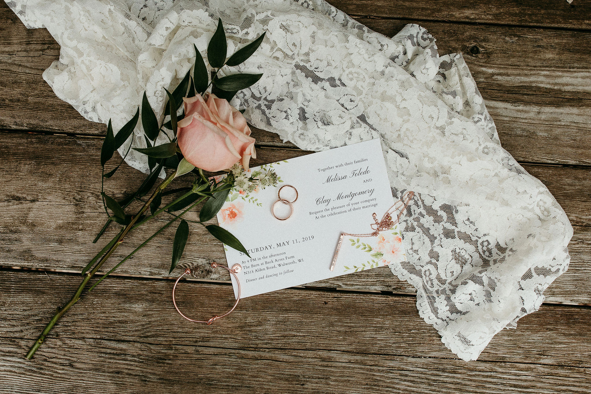 Wedding Details Invitation Ring Flowers