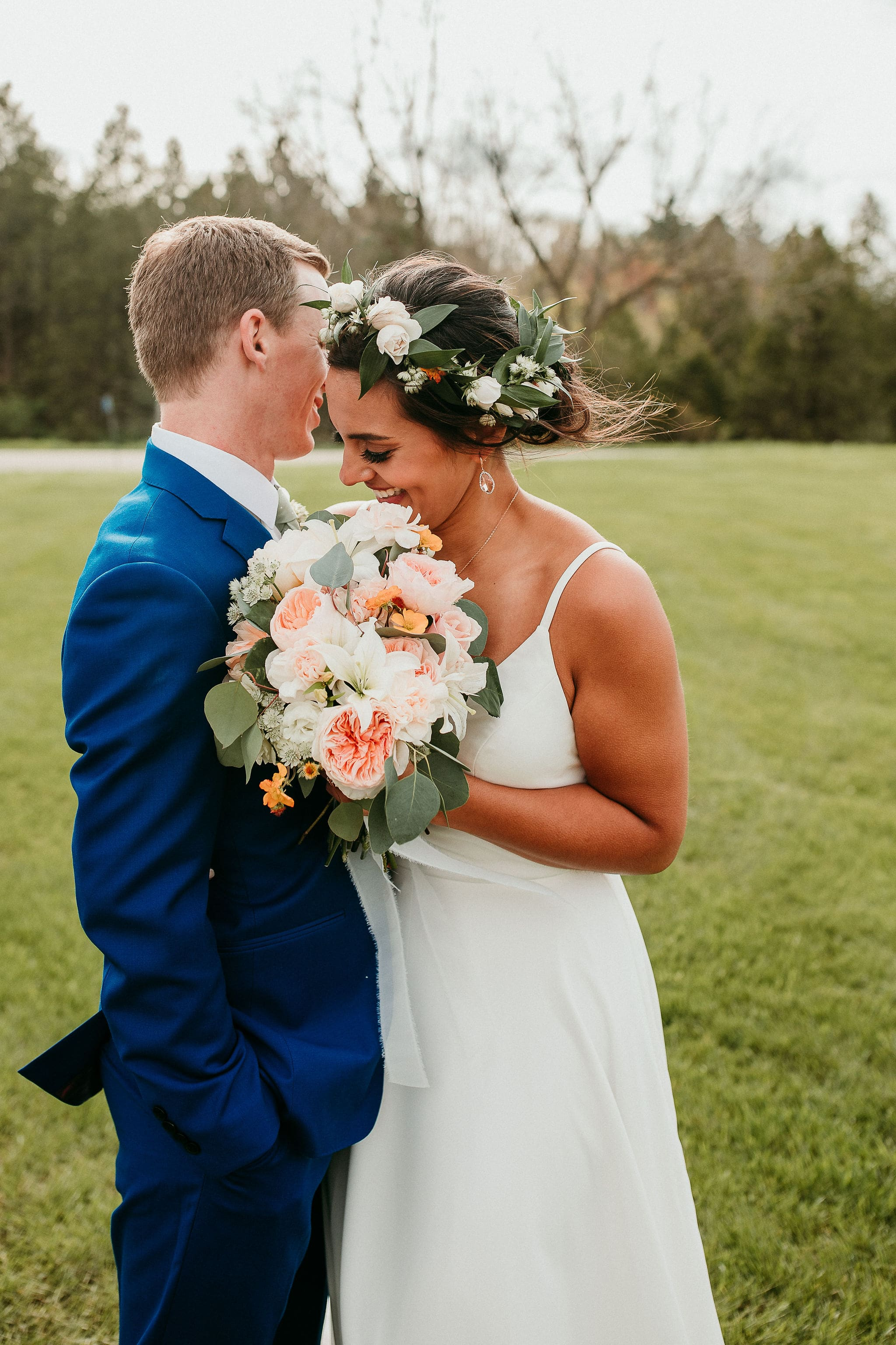 Bride and Groom Share Moment before Reception
