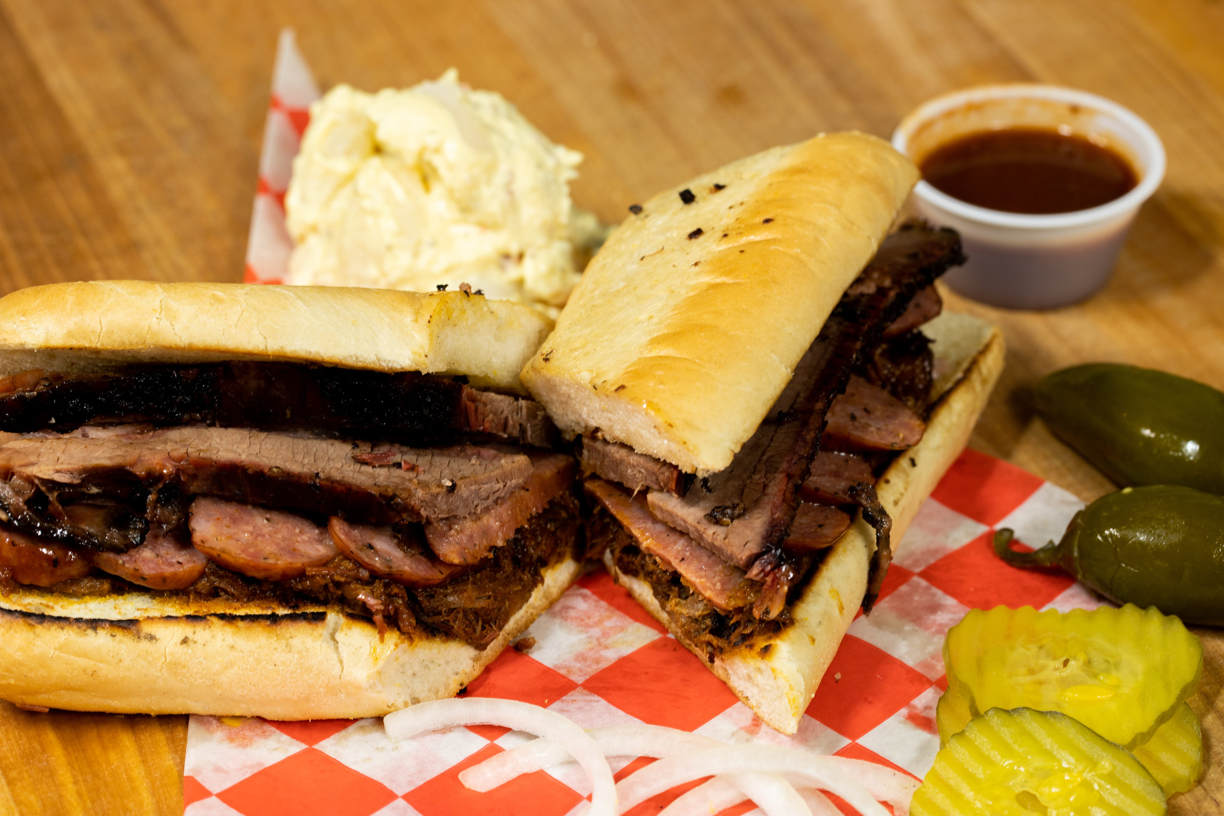 """- """"you're not a bbq joint in south Texasif you don't have a po'boy…"""""""