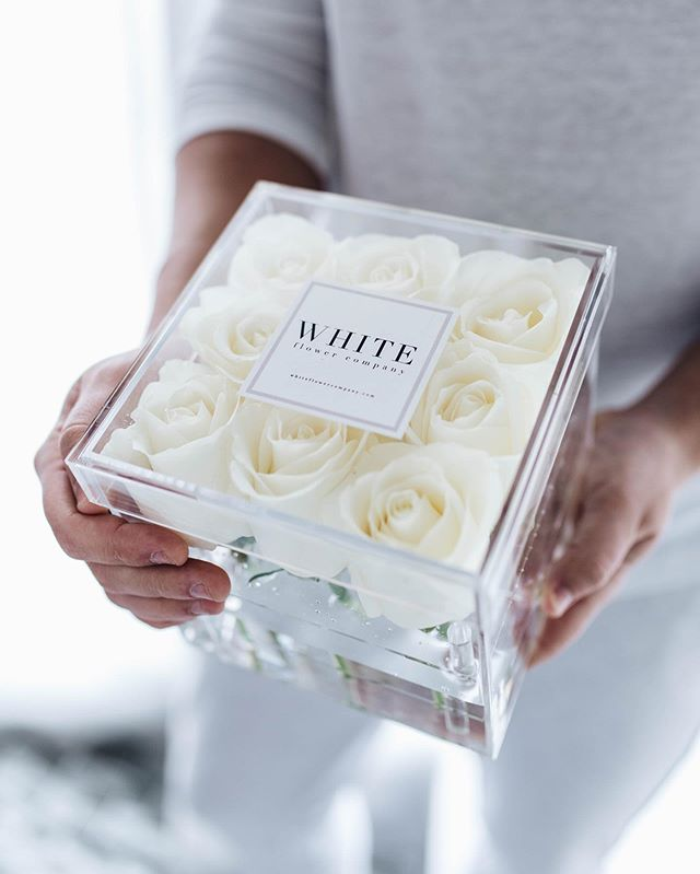 Knock knock. Beautiful white roses could be waiting for you just outside your front door! Click the link in our bio to order yours today! PC @jessica_amerson