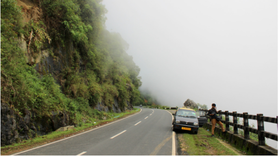A fascinating sight on the way to Shillong