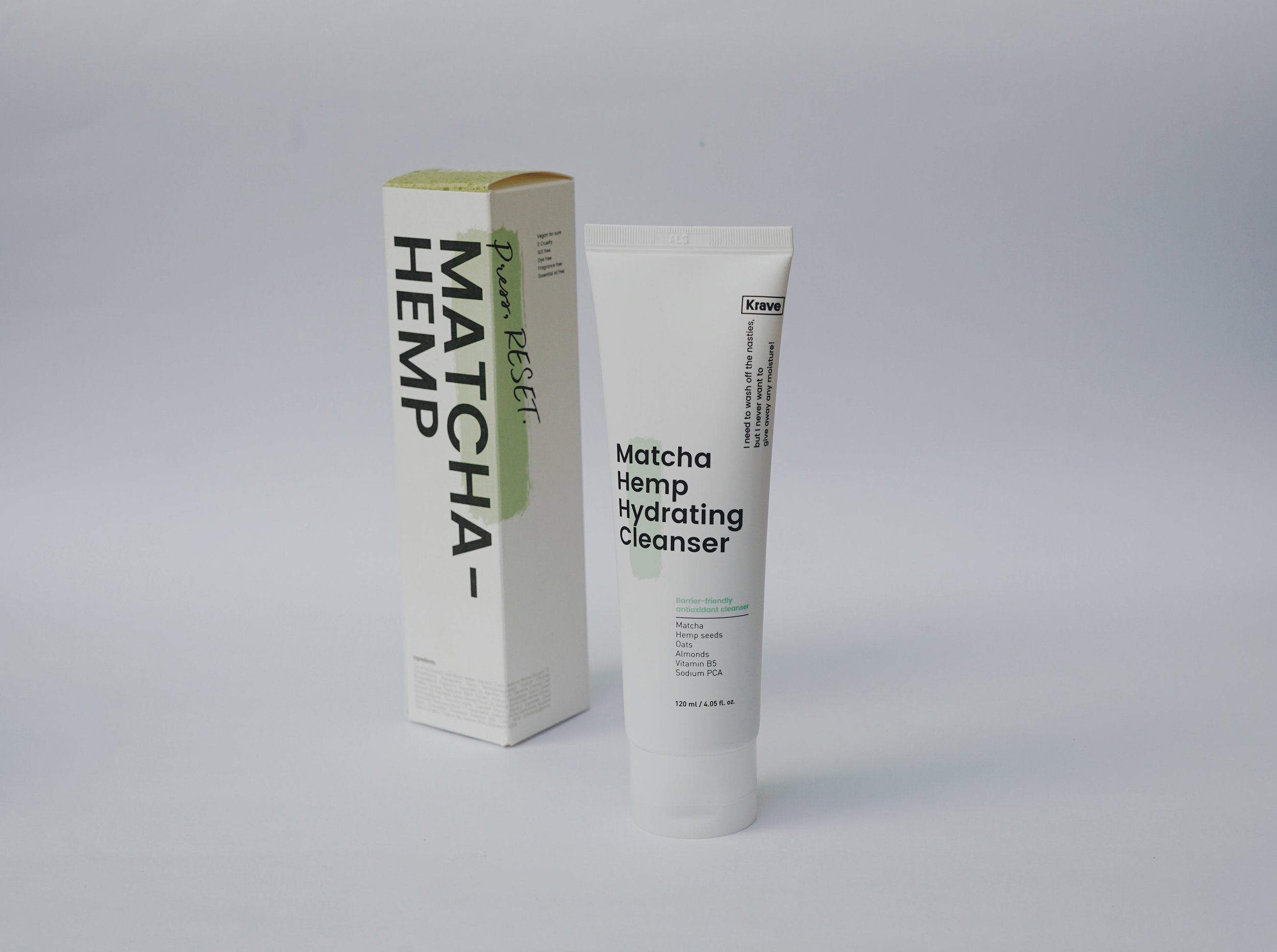 Krave Beauty's Matcha Hemp Hydrating Cleanser