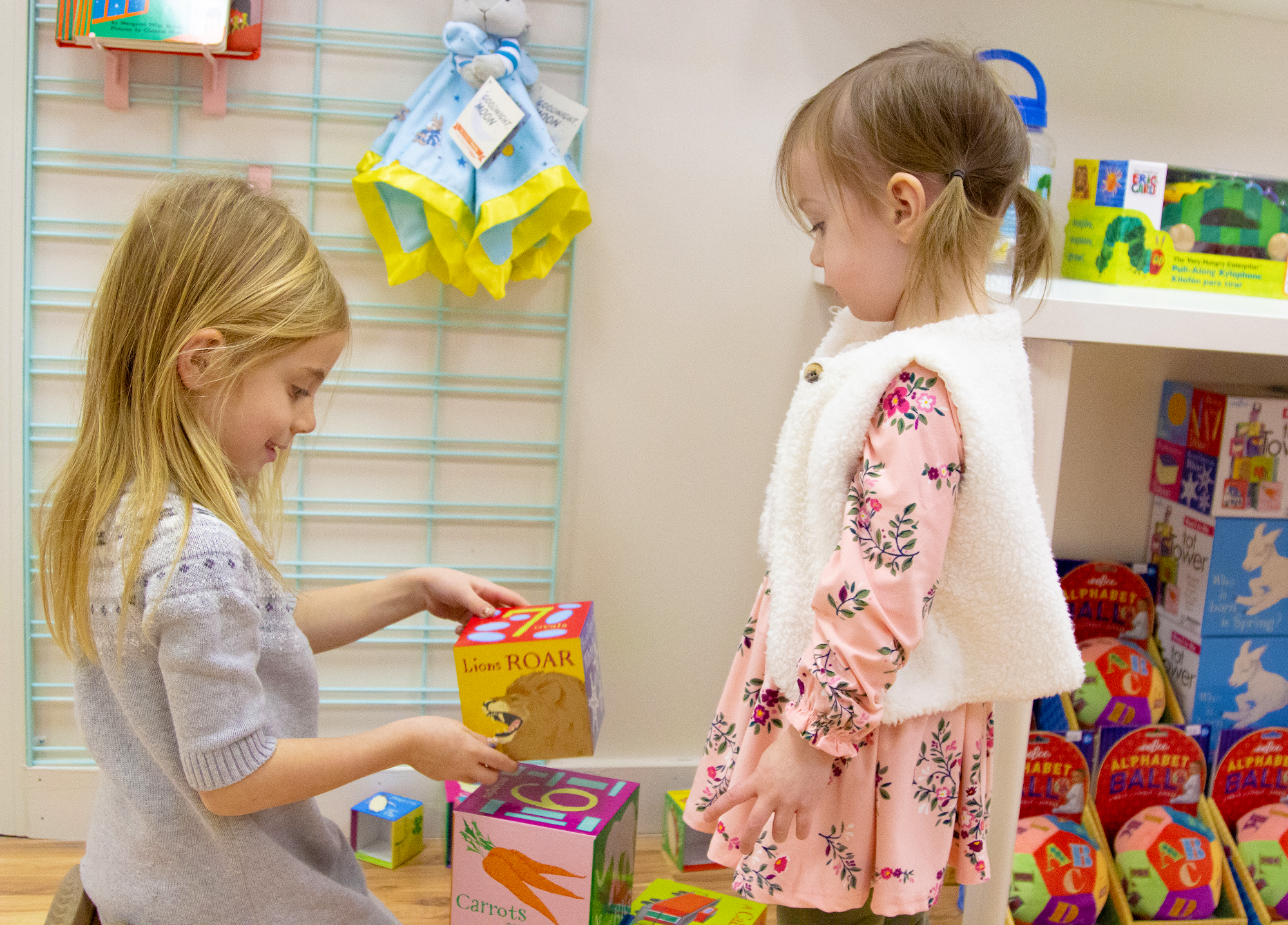 We love seeing the kids play in our store.