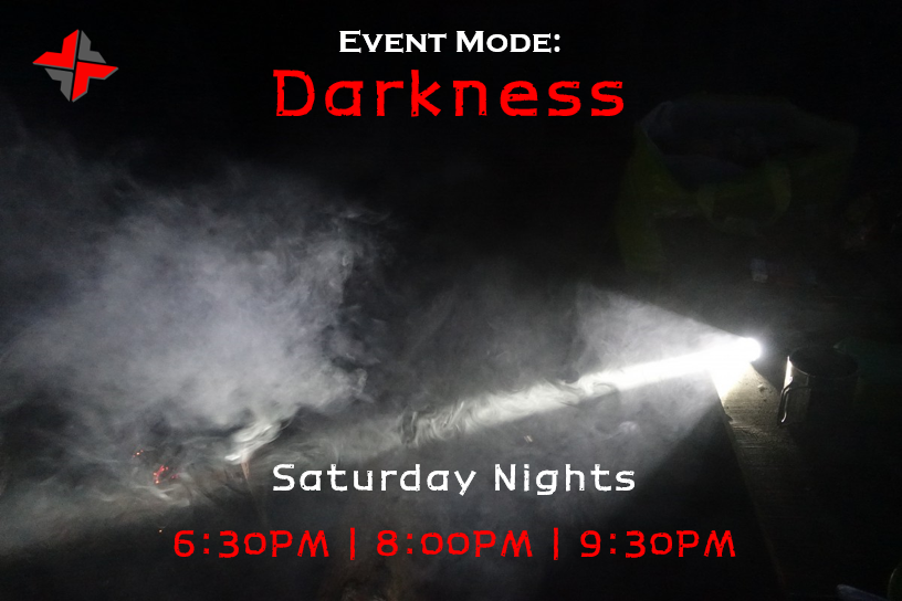 🚨 SATURDAY NIGHTS | DARKNESS 🚨  Experience Real Combat in a whole new way! Fight or sneak your way through darkness and smoke to defeat the enemy!  1.5HR Sessions | $30pp Get your crew together and call 0408 186 282 or Message Us NOW to Reserve!