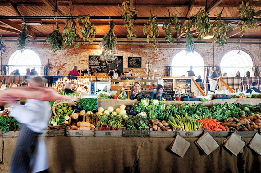 The Goods Shed market