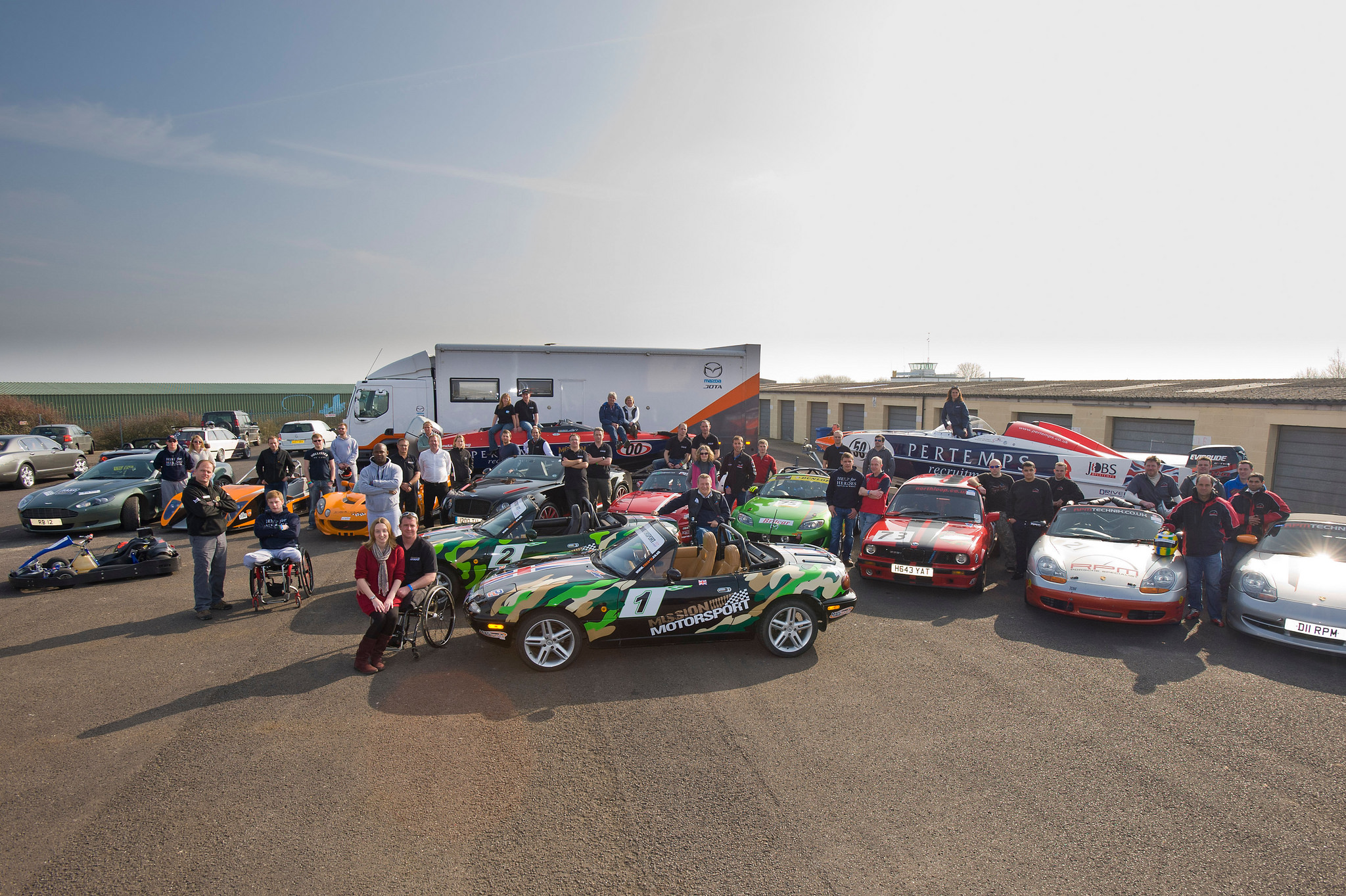 Mission Motorsport launch at Thruxton, 2012
