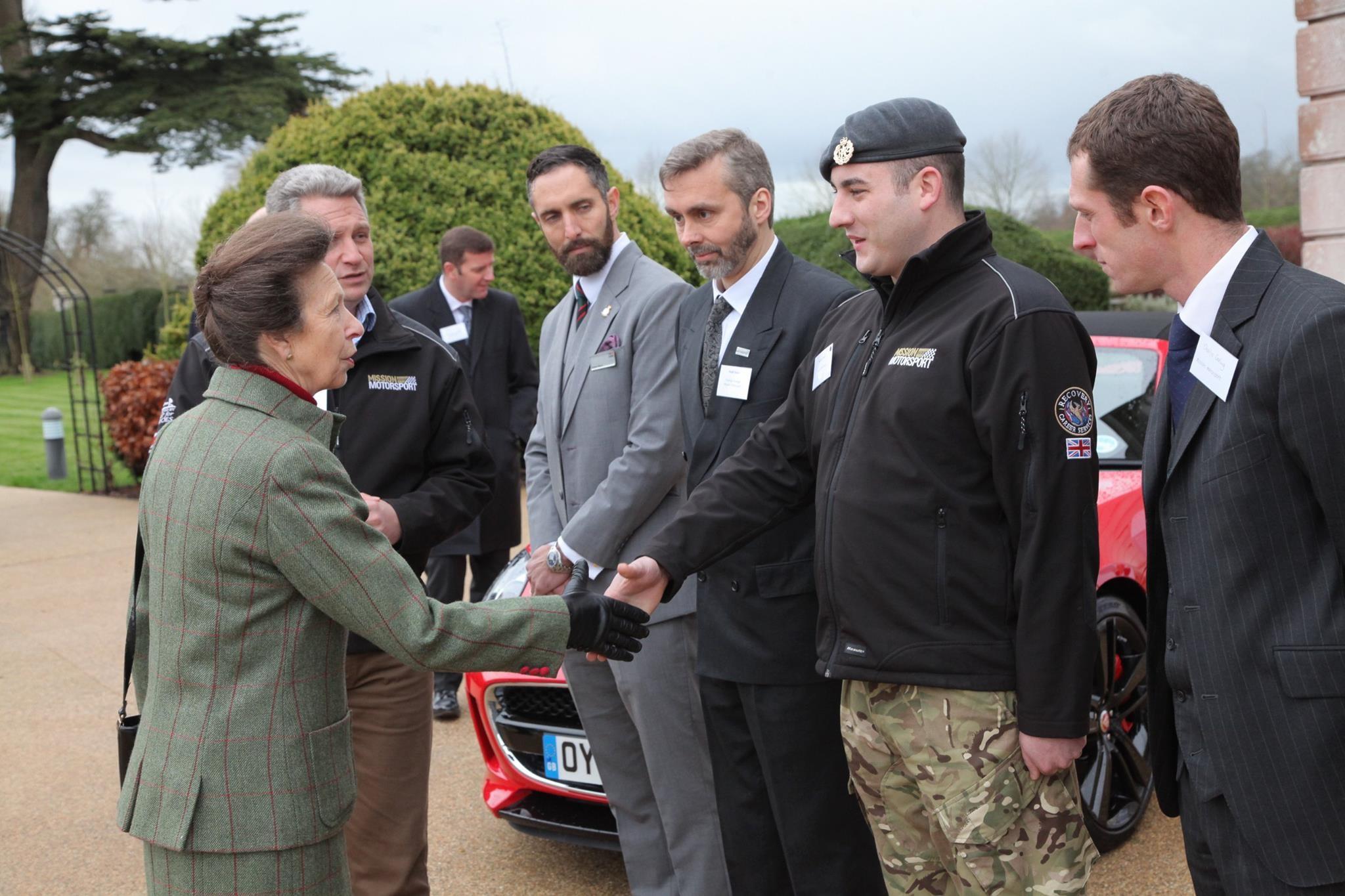 MM Beneficiary Gareth Lloyd meeting HRH Princess Anne
