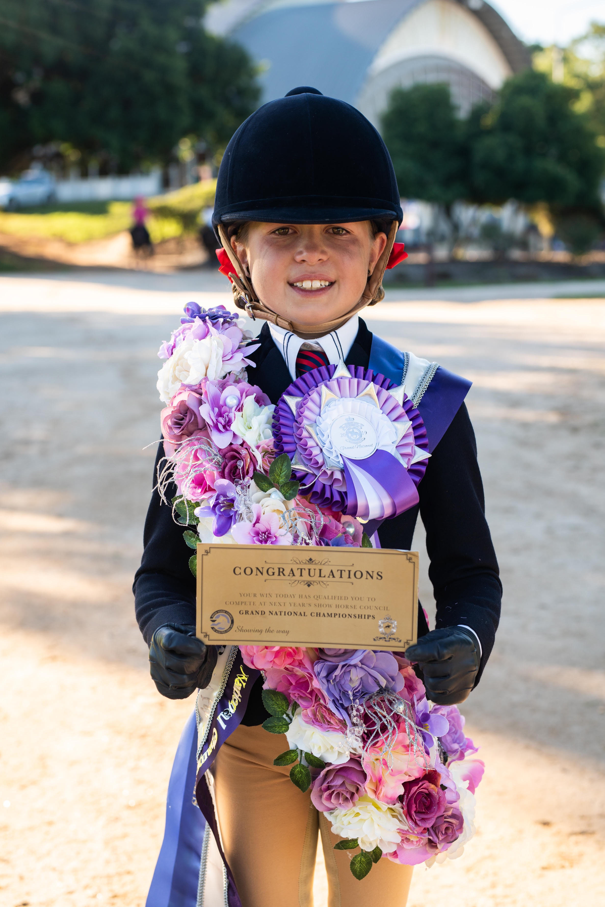 Charli with her 2020 Grand National Ticket