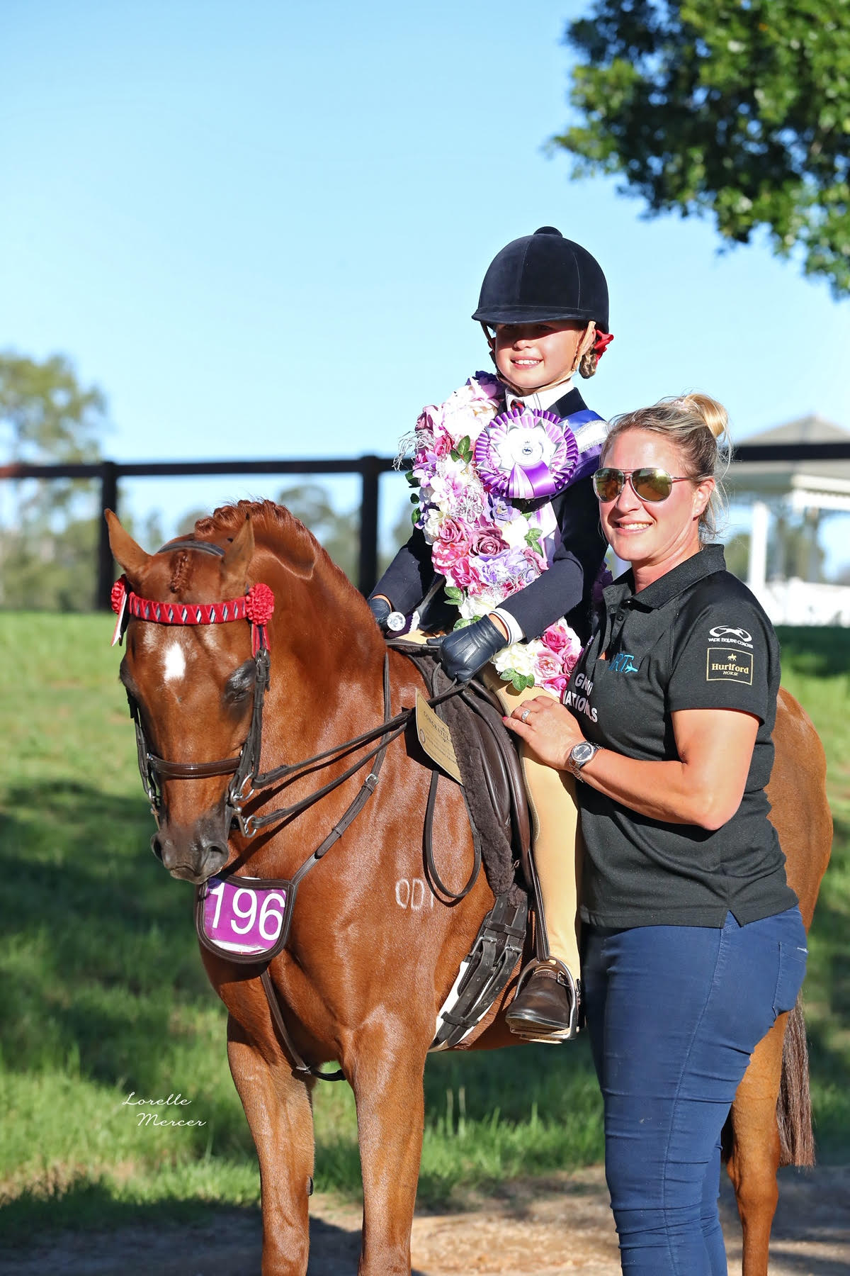 Charli and Coach Nicolette Butcher. Photo Credit Lorelle Mercer Photography