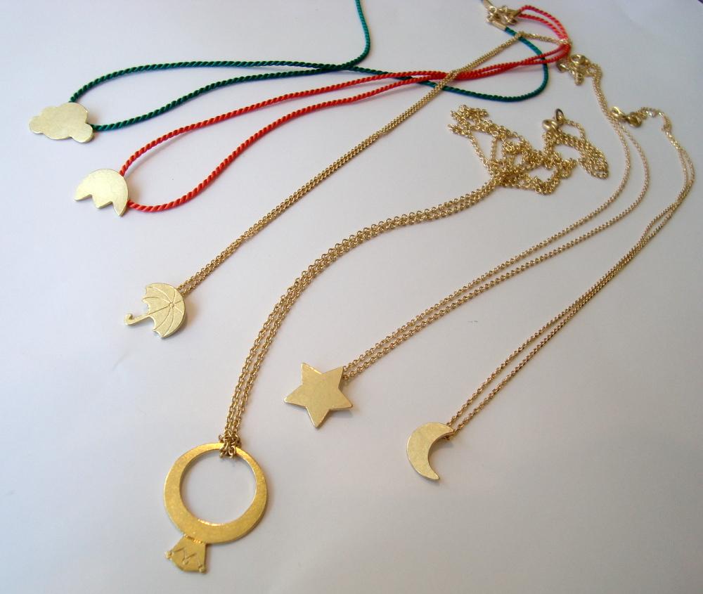 Anhänger Gelbgold mit Goldkette oder Seidenband