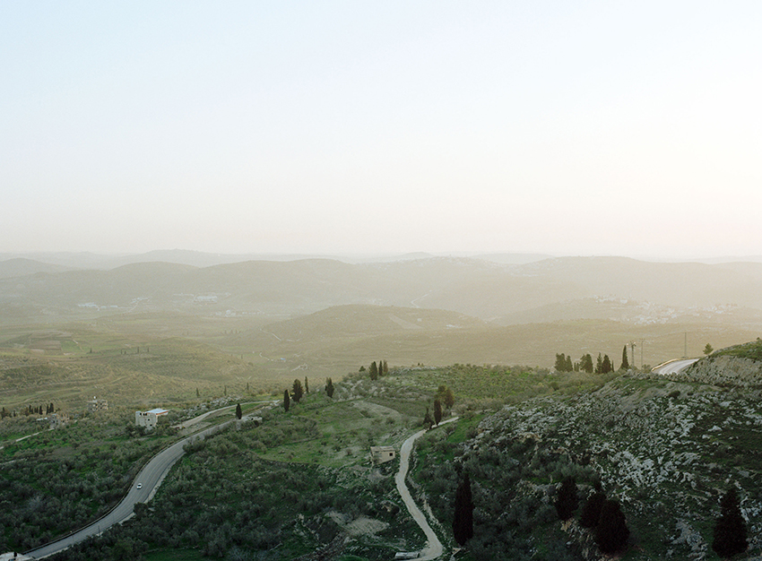 View of the hills and the road to Nablus
