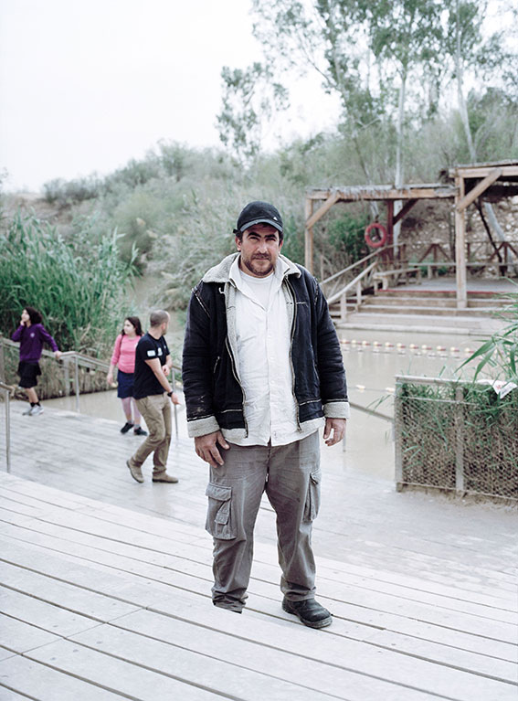 Ahmat at the baptism side at the Jordan river