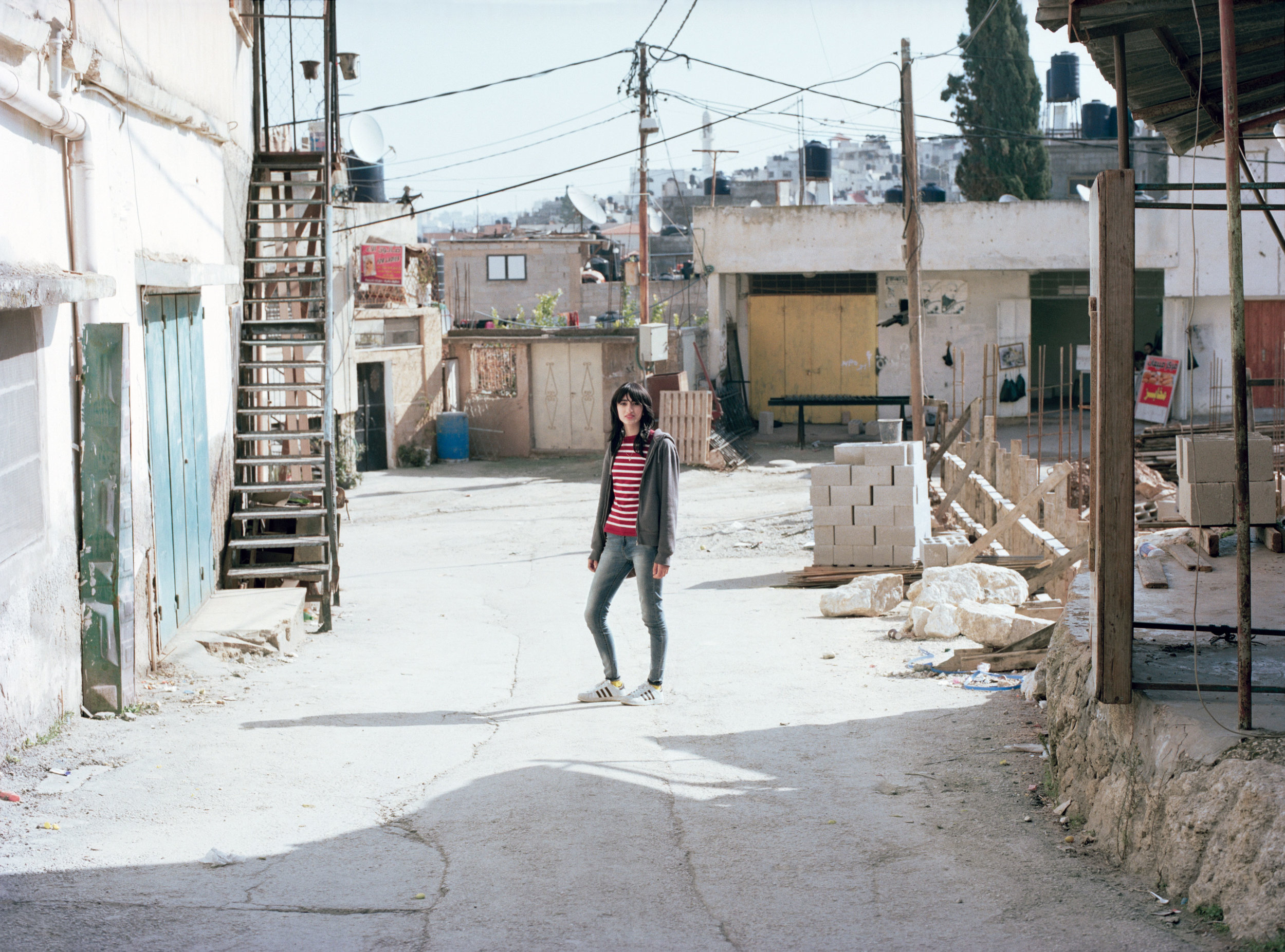 girl in the streets of Jenin refugee camp