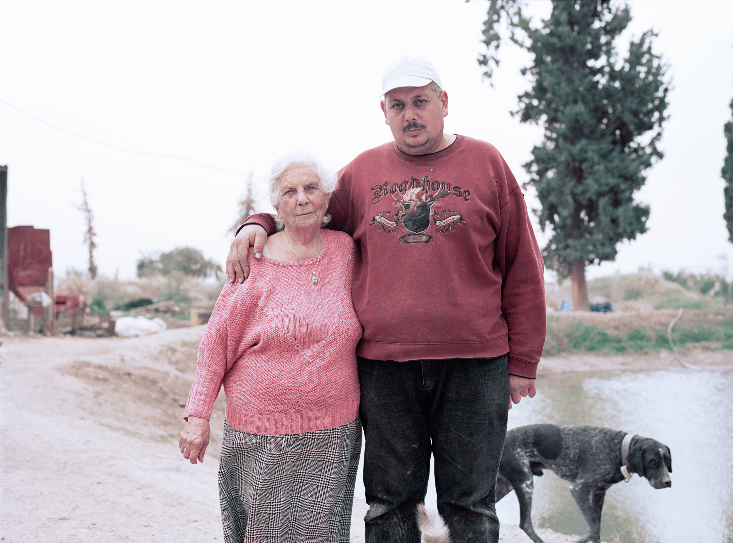 Khalid and Sofie at their farm in Al Auja