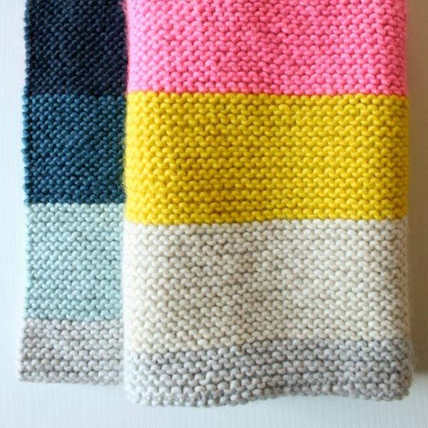 Super easy crib blanket by Purl Soho