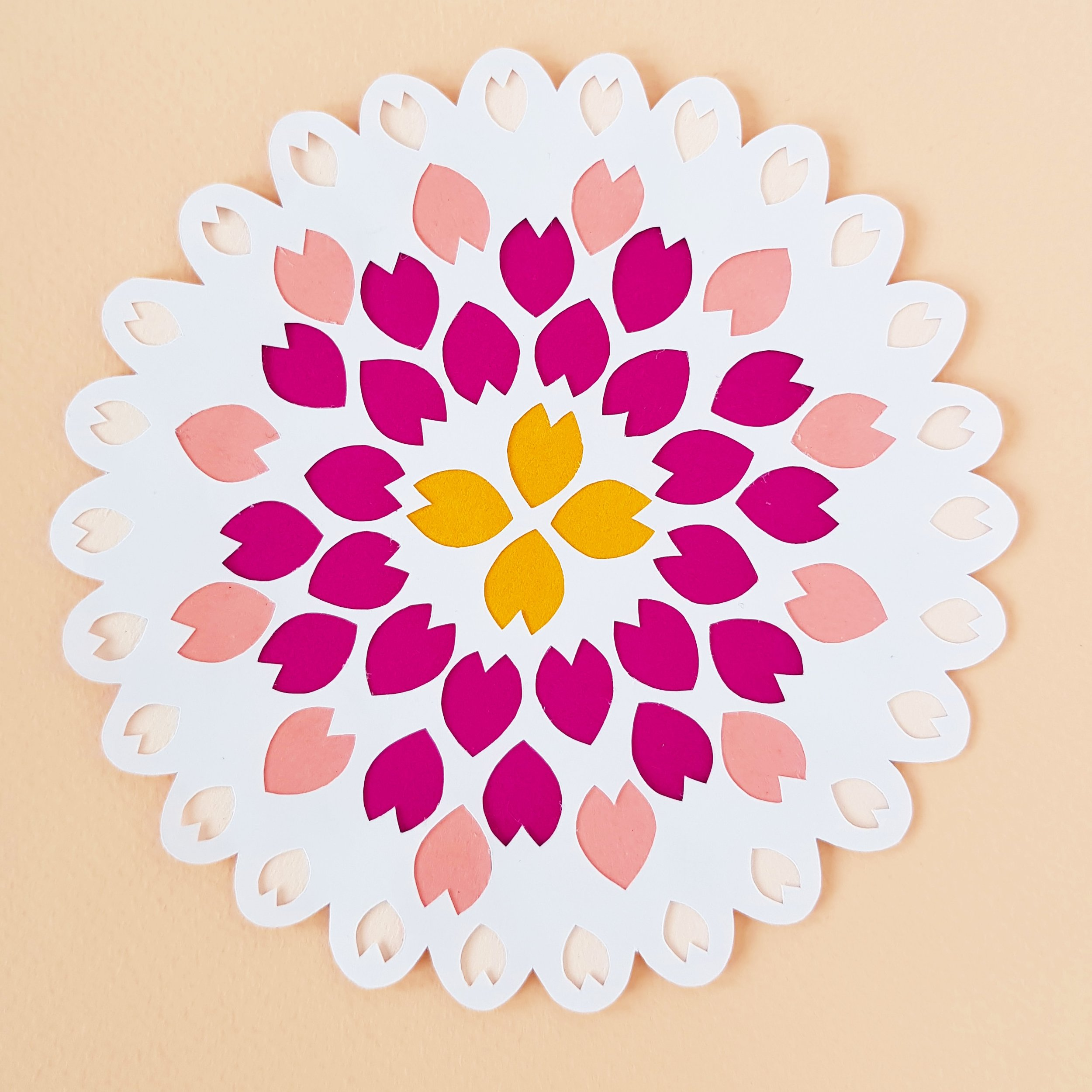 Papercut with colour infills