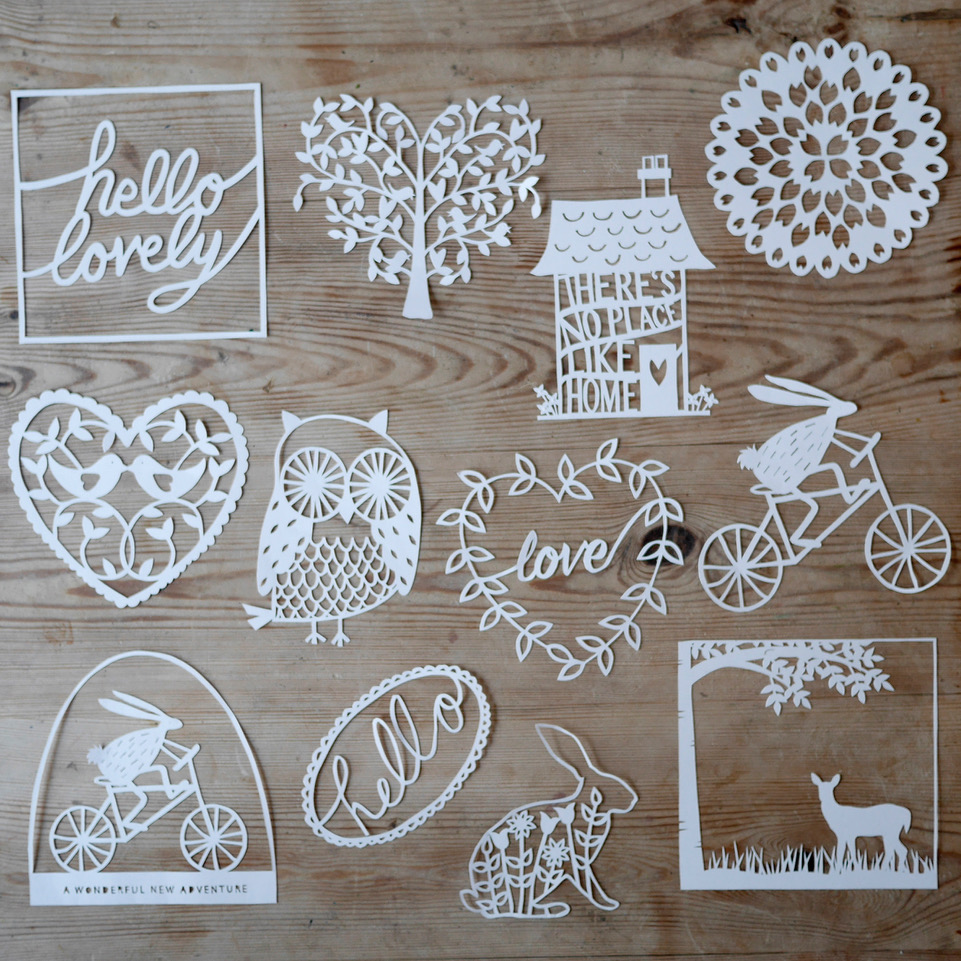 Lucy Dorothy paper cutting kit templates