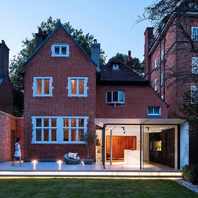 "Wedderburn Cottage ⠀ ⠀ Our work in the private residential sector often involves negotiating between the strong character of London's historic housing stock and the complex needs of modern living. Recently, we have obtained building and planning consent for a contemporary extension, and internal and external work on a Grade II listed, Victorian detached property in Hampstead. Designed in 1886 in the style of a Tudor manor house, the property required an airier, more open space for dining and informal living. Our response to this requirement has involved the transformation of the dark former kitchen area into a John Soane inspired timber-panelled lounge that creates an effortless transition between the listed building and the modern glass extension.⠀ ⠀ The development of the key detail became the centre piece of our exhibition ""1:1"" for the 2015 London Festival of Architecture.⠀ ⠀ This project has been shortlisted for the 2017 AJ Small Projects awards and the RIBA Regional Awards 2017. It has also been longlisted for the Don't Move, Improve 2017 awards.⠀ .⠀ Photography by @willscottphotography⠀ Styling by @finkernagelross⠀ Interior Design @finkernagelross⠀ .⠀ .⠀ .⠀ .⠀ .⠀ #design #designer #architecturelovers #homedesign #architecture #archilovers #interiordesign #moderndesign #homeinspo #housedesignm #interiors #london #modern #industrial #ukdesign #londonarchitecture #ribaawards2017 #ribaregionalawards #ajsmallprojects2017 #dontmoveimprove"