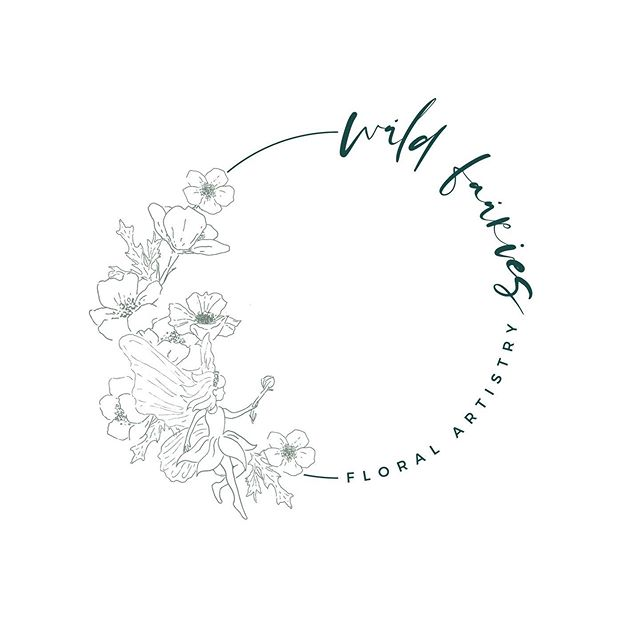 A lovely little hand drawn fairy floral logo. . . . . #fairylogo #customlogo #design #florallogo #handdrawn #sketchedlogo
