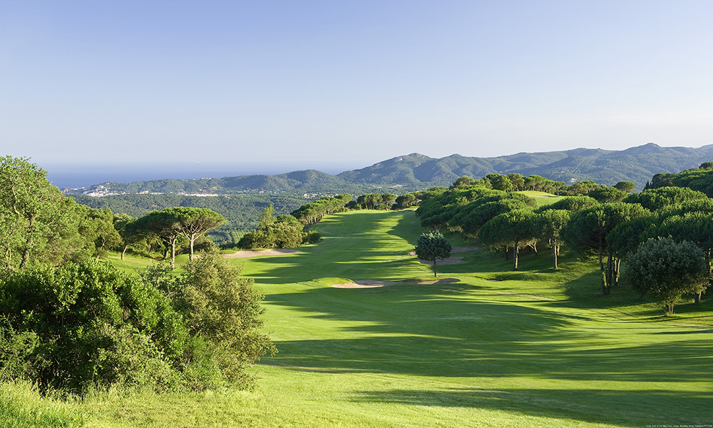 The 4th hole at Golf d'Aro in Costa Brava, Spain.