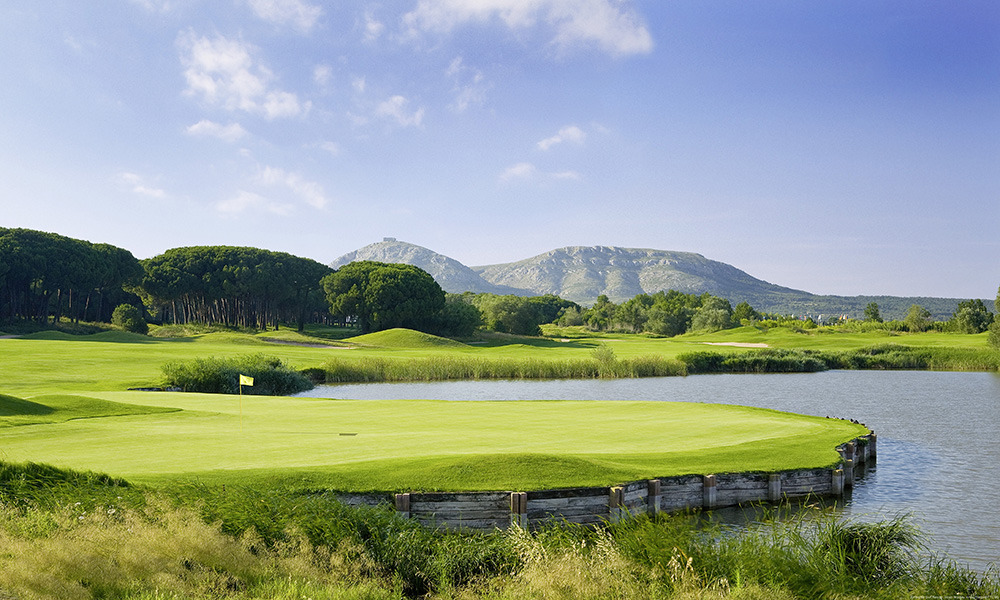 The 9th hole at Emporda's Forest Course in Costa Brava, Spain.