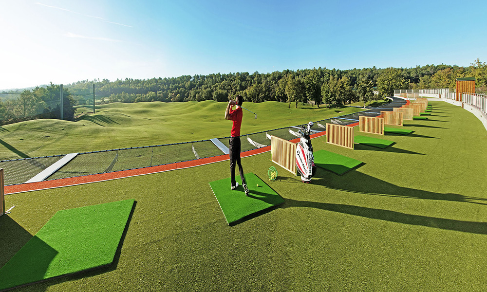 The rooftop range at Terre Blanche is part of an amazing practice facility.