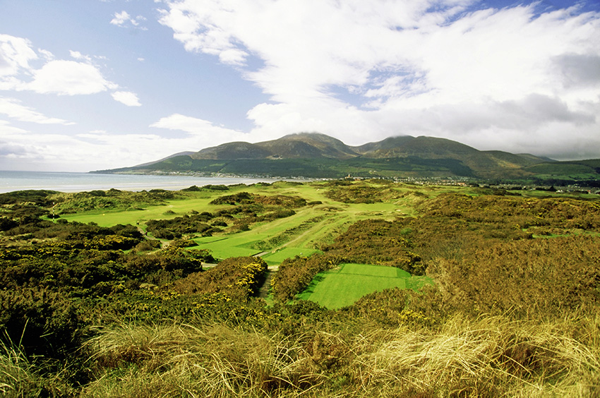 Royal County Down's immense beauty and danger are easy to see from high.