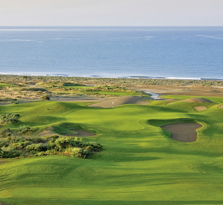 The inviting 3rd hole at Lykia Links in Turkey.