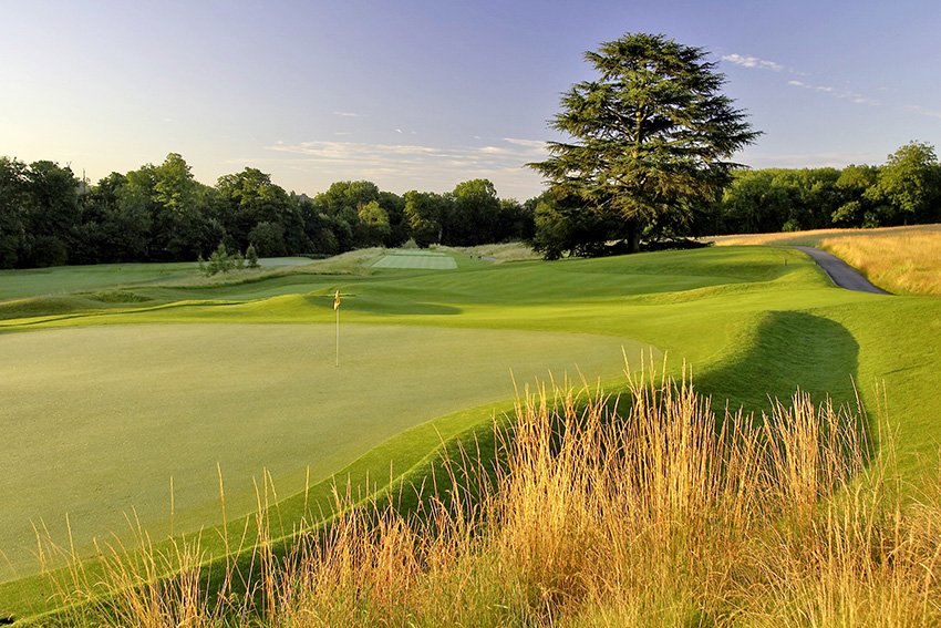 The 16th green at The Grove Golf Club.