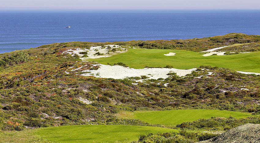 The spectacular 10th hole at West Cliffs in Portugal.