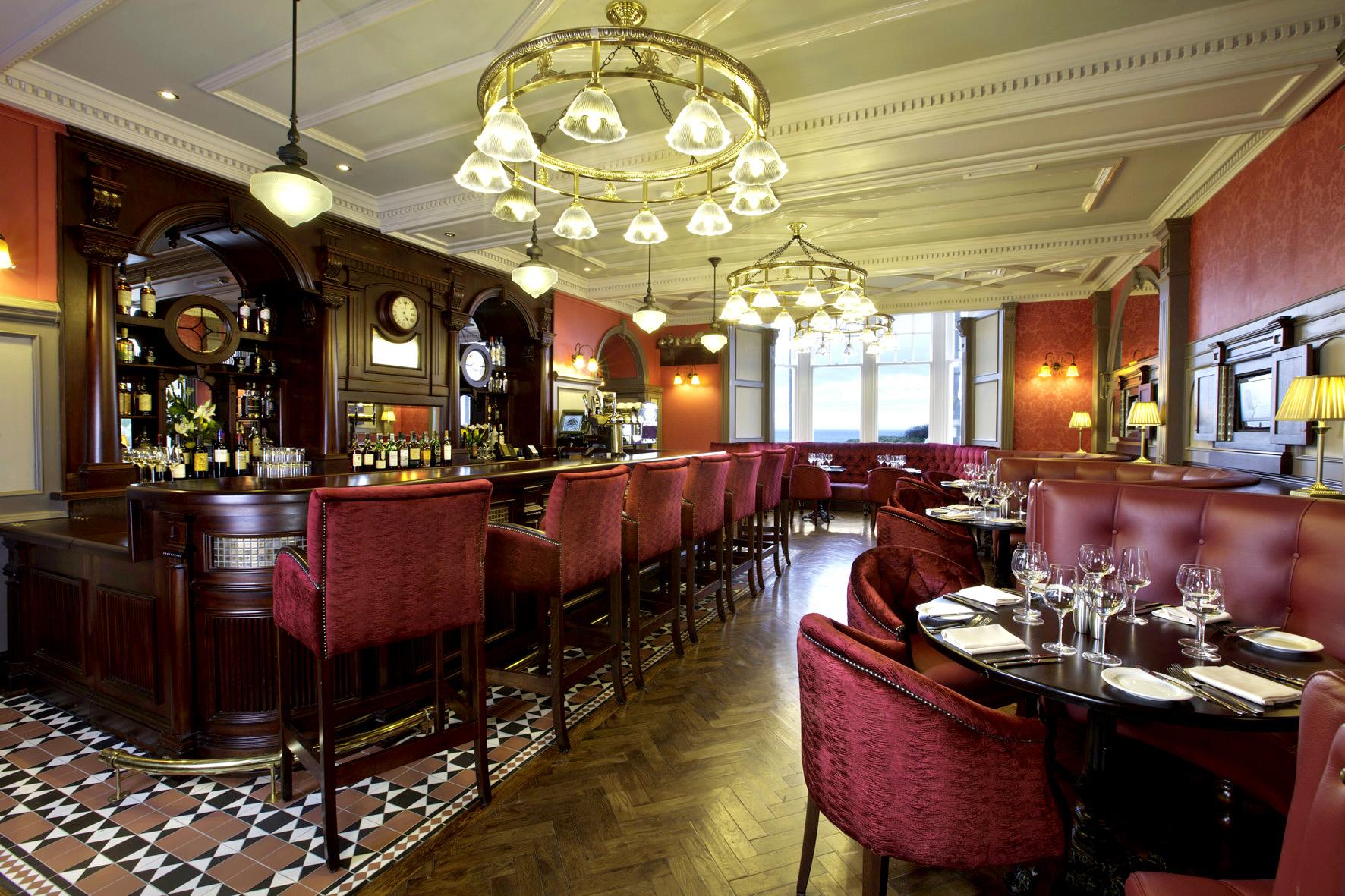 The Kintyre Club's bar.