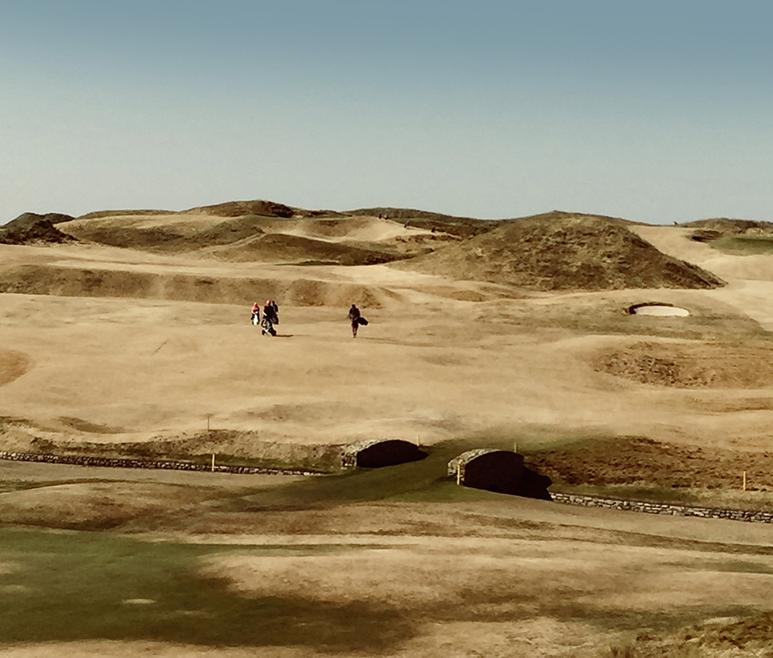 A parched Ballybunion Golf Club in Ireland during the UK's 2018 summer heatwave.