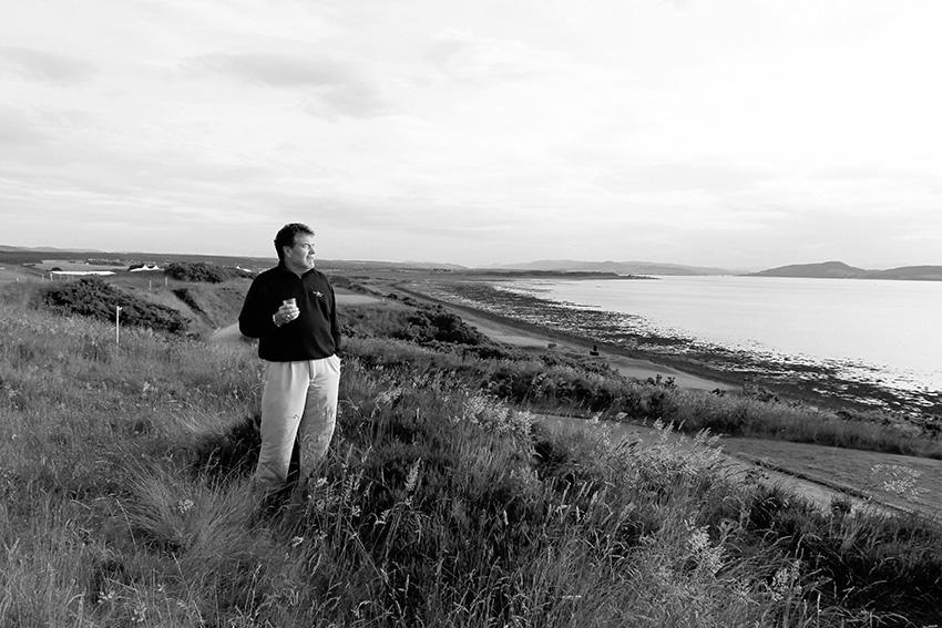 Castle Stuart owner Mark Parsinen surveys the beauty of the surrounding terrain.