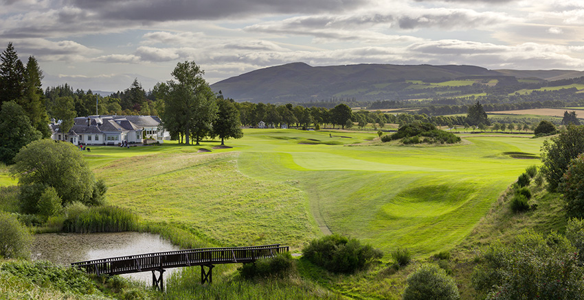 The beautiful 18th hole at gleneagles' Queen's course.