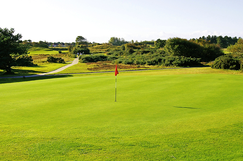 The 10th green at Southport & Ainsdale.