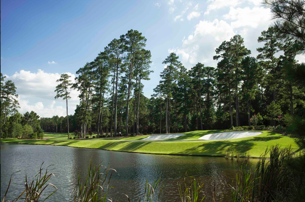 Tiger Woods' Bluejack National in Texas has hints of Augusta National with towering pines and minimal rough.